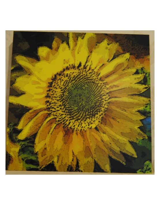 Sunflower Wood Art