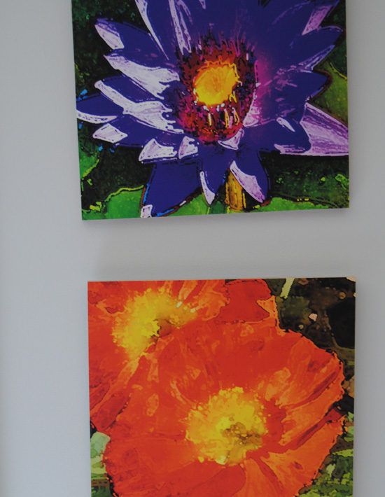 Lily and Poppy Wood Art