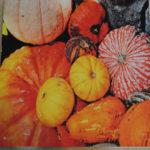 Pumpkin Patch Yellow Wood Art