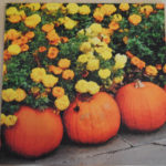 Three Pumpkins Wood Art